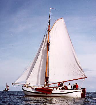 Segeln auf IJsselmeer oder Wattenmeer mit der Lemsteraak Zeebeer ab Monnickendam