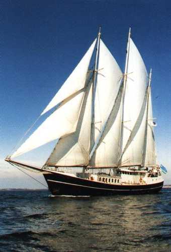 zeilen op IJsselmeer of Waddenzee met de barkentijn Pedro Doncker vanuit Kiel
