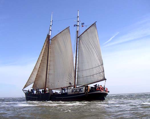 zeilen op IJsselmeer of Waddenzee met de tweemastklipper Esperanza vanuit Harlingen