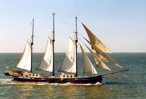 zeilen op IJsselmeer of Waddenzee met de driemastschoener Albert Johannes vanuit Kiel