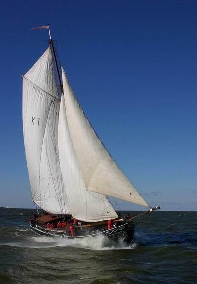 Segeln auf IJsselmeer oder Wattenmeer mit der Klipper Avontuur ab Amsterdam