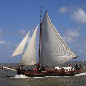 zeilen op IJsselmeer of Waddenzee met de klipper Verandering vanuit Harlingen