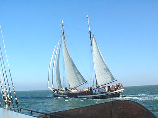 zeilen op IJsselmeer of Waddenzee met de klipper Poseidon vanuit Harlingen