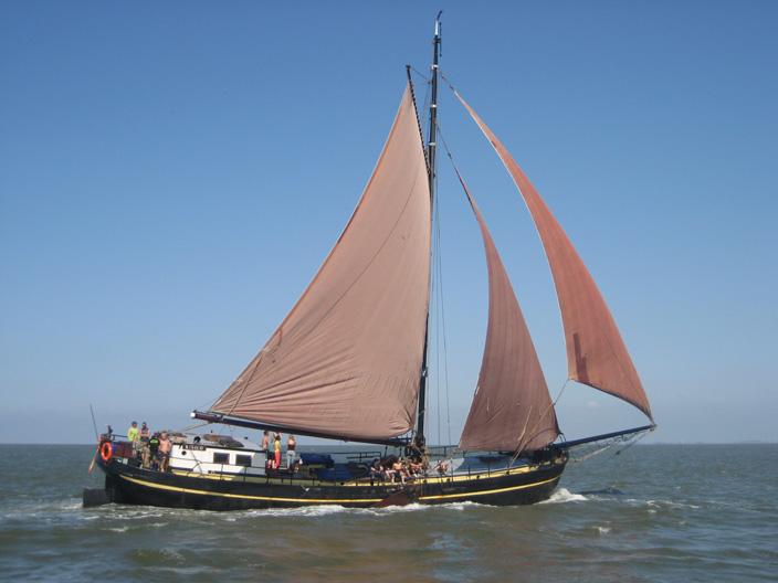 Segeln auf IJsselmeer oder Wattenmeer mit der Einmastaak Risico ab Harlingen