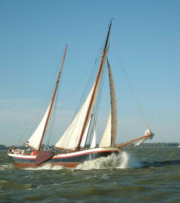 Segeln auf IJsselmeer oder Wattenmeer mit der Zweimastklipper Avontuur ab Harlingen