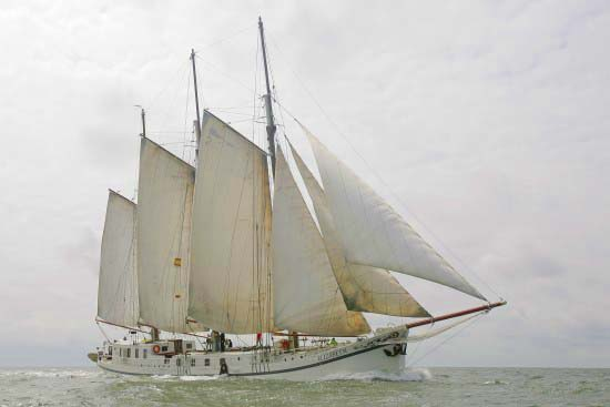 zeilen op IJsselmeer of Waddenzee met de zeeuwse klipper Elizabeth vanuit Lemmer