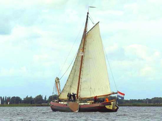 Segeln auf IJsselmeer oder Wattenmeer mit der Pavillontjalk Onderneming ab Lemmer