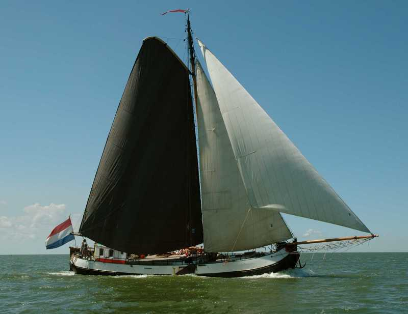 Segeln auf IJsselmeer oder Wattenmeer mit der Tjalk Voorwaarts ab Stavoren