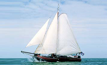 Segeln auf IJsselmeer oder Wattenmeer mit der Einmasttjalk Middelsee ab Stavoren