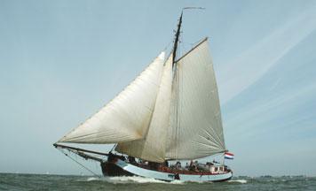 Segeln auf IJsselmeer oder Wattenmeer mit der Einmasttjalk Hollandia ab Stavoren
