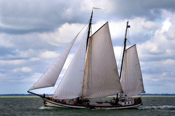 Segeln auf IJsselmeer oder Wattenmeer mit der Zweimastklipper Eensgezindheid ab Enkhuizen