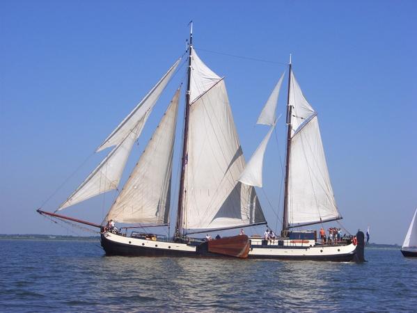 Segeln auf IJsselmeer oder Wattenmeer mit der Zweimasttjalk Eersteling ab Harlingen