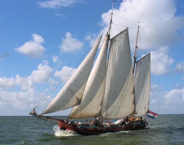 Segeln auf IJsselmeer oder Wattenmeer mit der Zweimastklipper Panta Rhei ab Harlingen