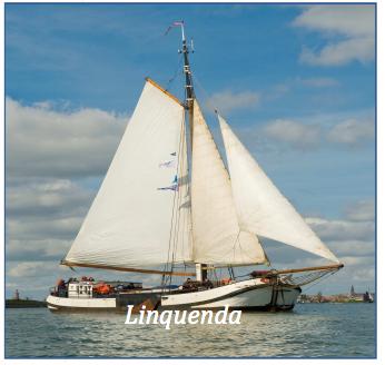 zeilen op IJsselmeer of Waddenzee met de tjalk Linquenda vanuit Monnickendam