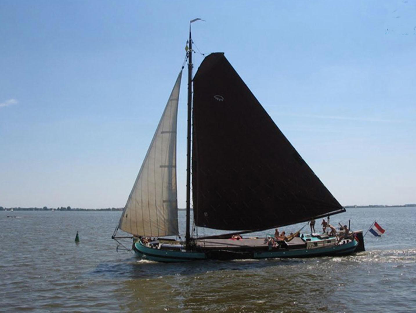 Segeln auf IJsselmeer oder Wattenmeer mit der Skutsje Trouwe Hulp ab Langweer