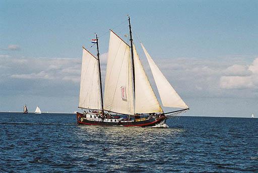 Segeln auf IJsselmeer oder Wattenmeer mit der Zweimasttjalk Aagtje ab Harlingen