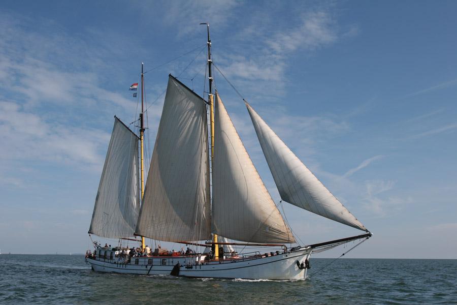 Segeln auf IJsselmeer oder Wattenmeer mit der Zweimastklipper Actief ab Harlingen