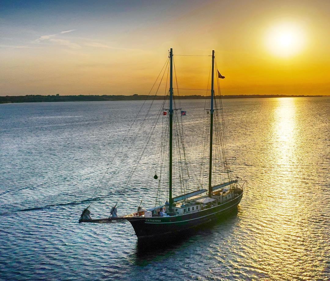 zeilen op IJsselmeer of Waddenzee met de schoener Catherina vanuit Kiel