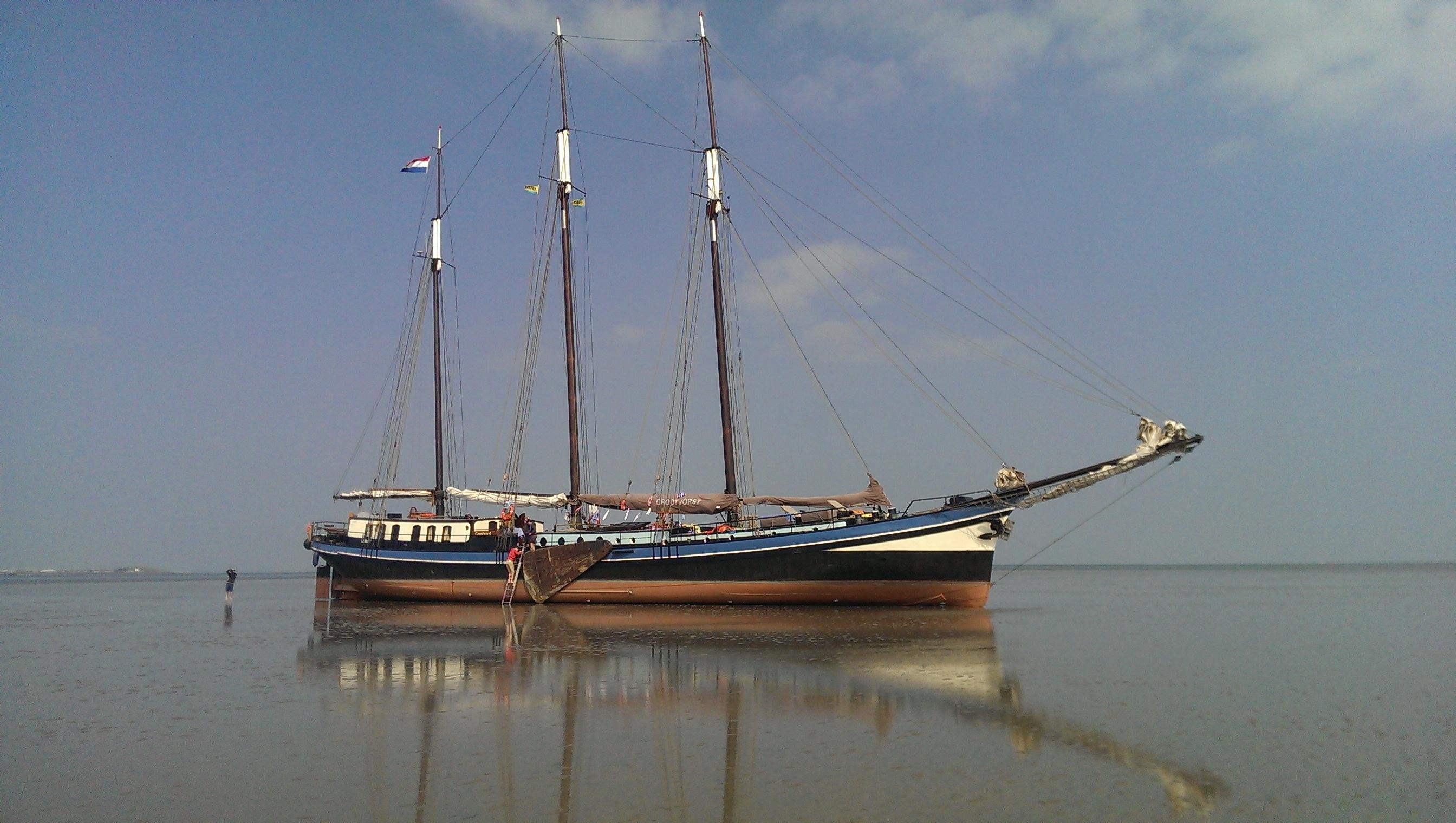 zeilen op IJsselmeer of Waddenzee met de driemastklipper Grootvorst vanuit Harlingen