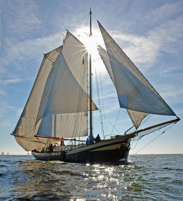 zeilen op IJsselmeer of Waddenzee met de klipper Kaat Mossel vanuit Lelystad