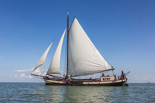 Segeln auf IJsselmeer oder Wattenmeer mit der Einmastaak Nova Cura ab Lauwersoog