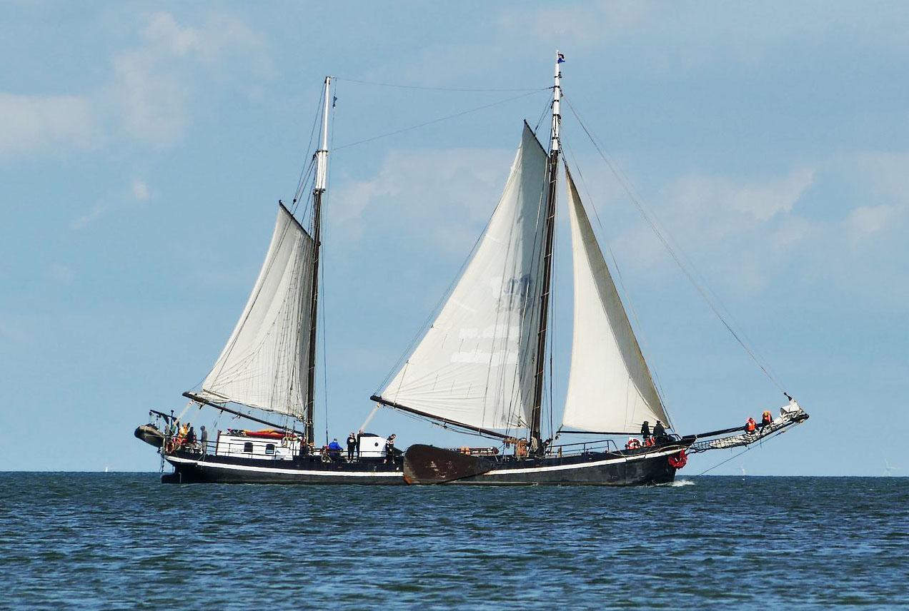 Segeln auf IJsselmeer oder Wattenmeer mit der Klipper Meridiaan ab Enkhuizen