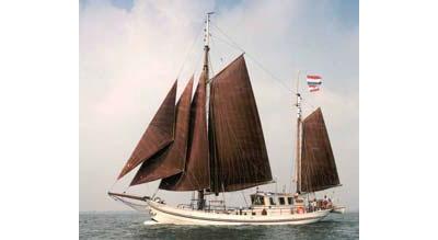 Segeln auf IJsselmeer oder Wattenmeer mit der Zweimastklipper Mother Goose ab Hoorn