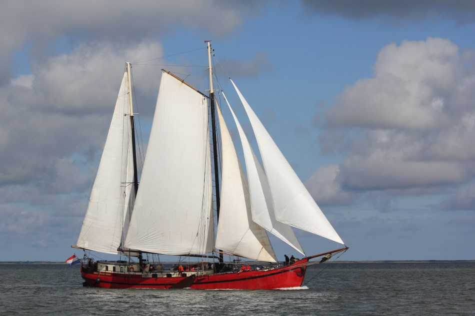 Segeln auf IJsselmeer oder Wattenmeer mit der Zweimastklipper Rode Swan (ex Mare Marieke) ab Harlingen