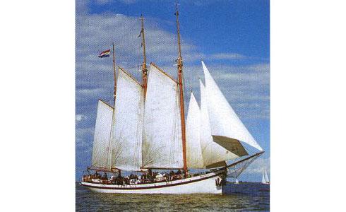 zeilen op IJsselmeer of Waddenzee met de klipper Sanne Sophia vanuit Muiden