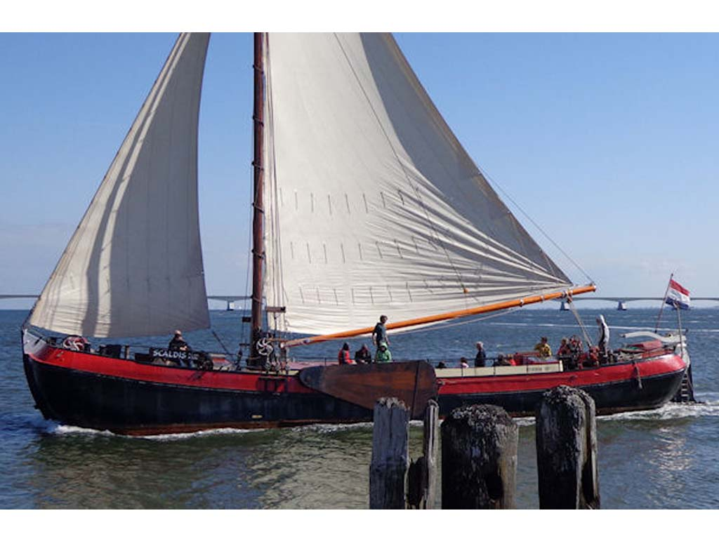 Segeln auf IJsselmeer oder Wattenmeer mit der Zeeuwse Tjalk Scaldis ab Zierikzee
