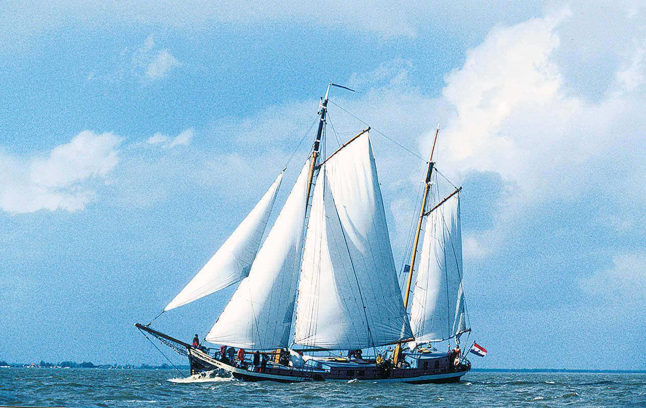 Segeln auf IJsselmeer oder Wattenmeer mit der Klipper Sybaris ab Enkhuizen