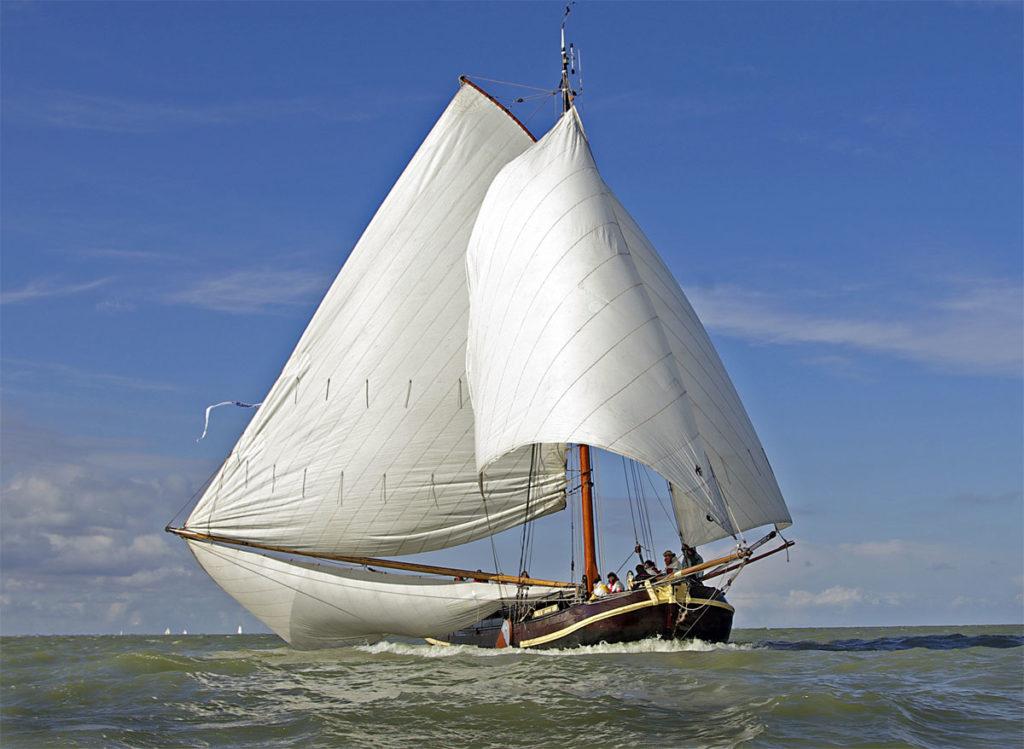 zeilen op IJsselmeer of Waddenzee met de boltjalk Verwisseling vanuit Muiden