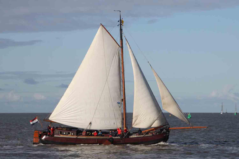 Segeln auf IJsselmeer oder Wattenmeer mit der Tjalk Vlieter ab Makkum