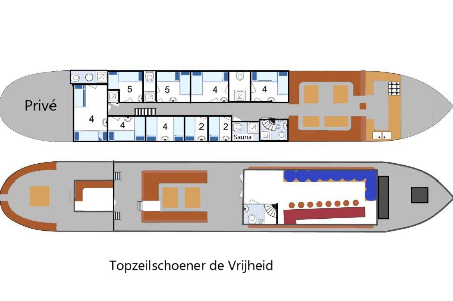 schip huren op IJsselmeer of Waddenzee : de topzeilschoener Vrijheid vanuit Enkhuizen