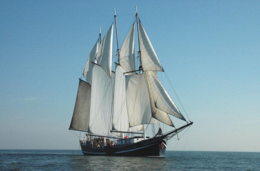 zeilen op IJsselmeer of Waddenzee met de topzeilschoener Vrijheid vanuit Enkhuizen