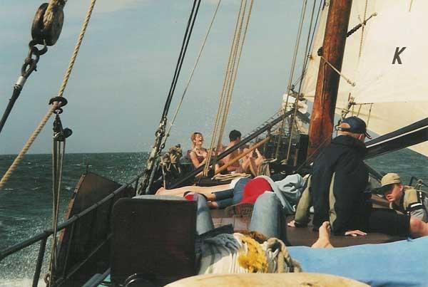 zeilen op IJsselmeer of Waddenzee met de tjalk Vrouwe Jitske vanuit Edam