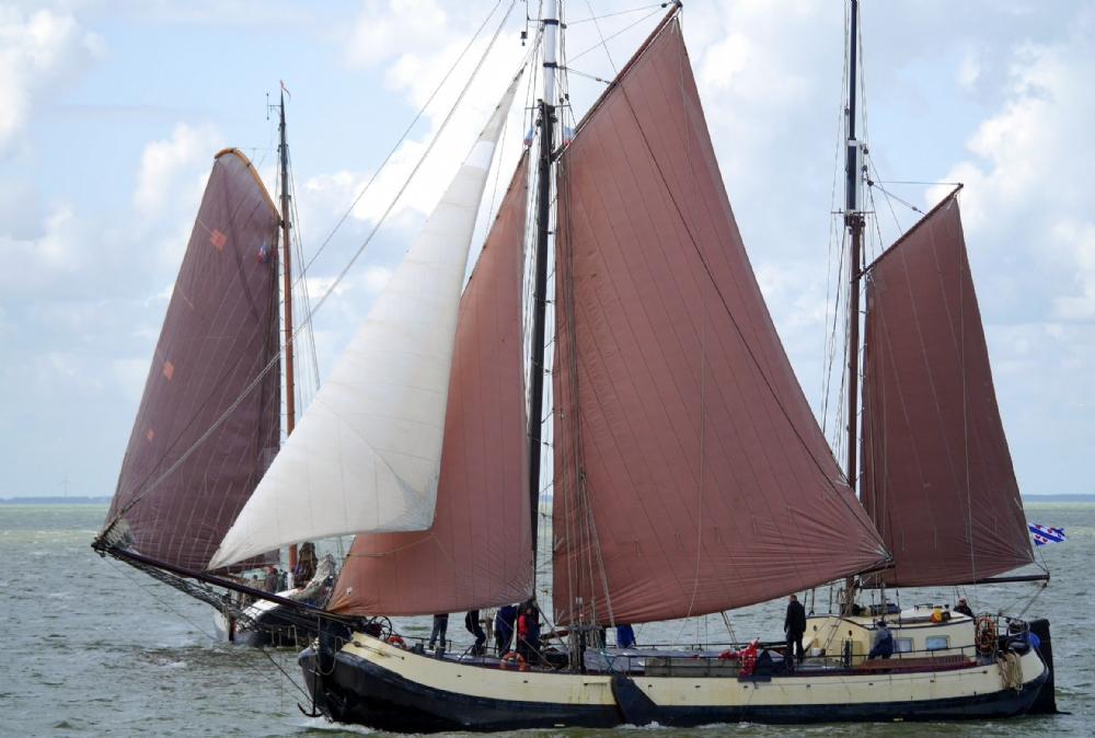 zeilen op IJsselmeer of Waddenzee met de tjalk Vrouwezand vanuit Stavoren