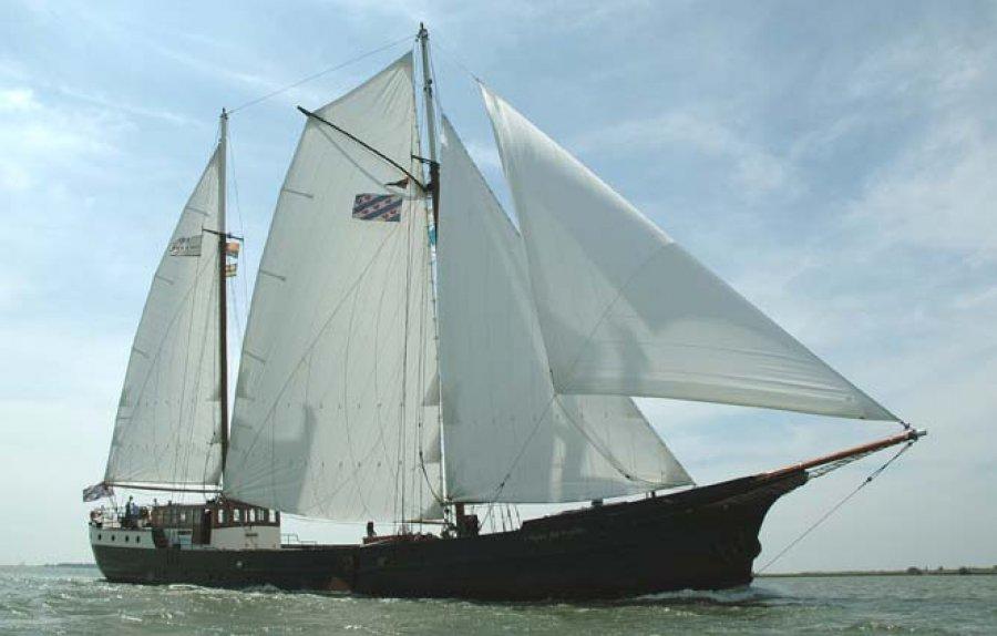 Segeln auf IJsselmeer oder Wattenmeer mit der Zweimastschoner Wapen fan Fryslân ab Enkhuizen