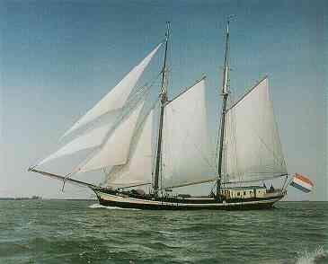 zeilen op IJsselmeer of Waddenzee met de topzeilschoener Zuiderzee vanuit Kiel
